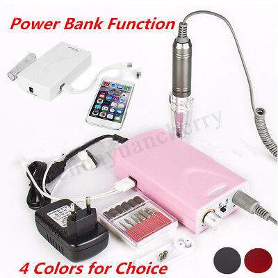 Rechargeable Electric Nail Drill Machine Polisher Cordless Manicure Pedicure Set