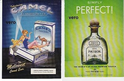 CAMEL 2005 magazine ad cigarettes advertisement PATRON tequila print clipping