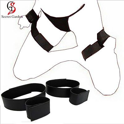 Strong Nylon Spreader Bar Wrist/ Hands to Ankle Cuffs Restraint EW