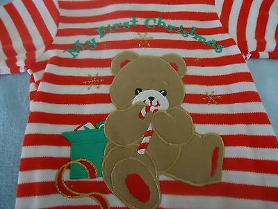 LITTLE ME Baby's My 1st Christmas Footed Sleeper Romper Coverall Size 6 Months