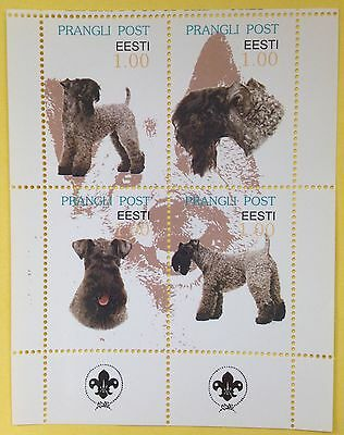 KERRY BLUE TERRIER ** International Postal Souvenir Sheet Dog Stamps**
