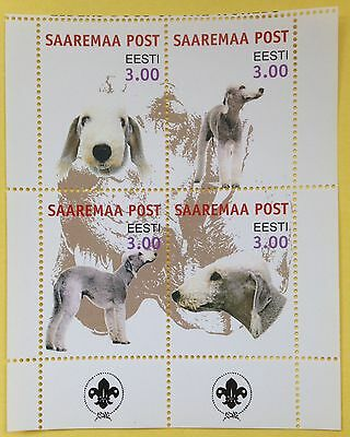 BEDLINGTON TERRIER ** International Postal Souvenir Sheet Dog Stamps**