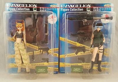 Evangelion Figures Asuka & Rei The Ban On Invasion Tactical Sega Brand new