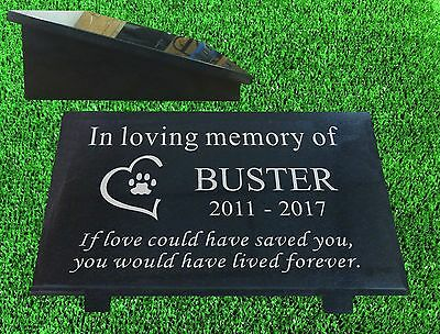 granite pet memorial plaque grave marker personalised