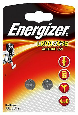ENERGIZER Lot de 4 piles A76 LR44 AG1-calculatrice/photo. en blister de 2 piles