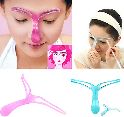 Eyebrow Shaper Shaping Makeup Grooming Tool Template Stereo Stencil Brow NEW**UK