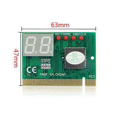 2X PC PCI Diagnostic Card Motherboard Analyzer Tester Post Test Card With light