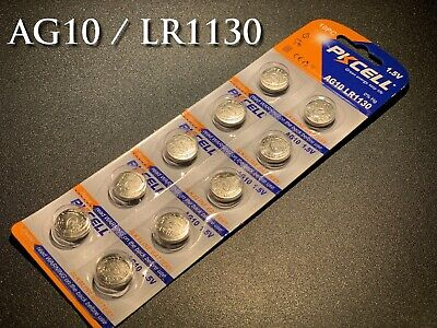 250pcs AG10/LR1130 Eunicell Battery 1.5V Alkaline Batteries - Stock in Australia