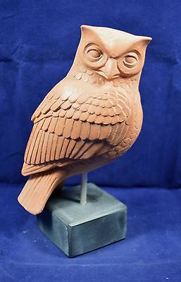Owl sculpture ancient Greek symbol of knowledge and wisdom ceramic statue