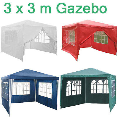 Panana New 3 x 3m 120g Waterproof Outdoor PE Garden Gazebo Marquee Canopy Tent