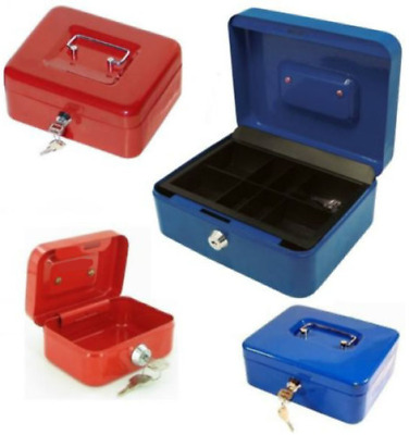 "4"" 6"" 8"" 10"" 12"" Money Box Storage Bank Steel Deposit Cash Safety Box Portable"