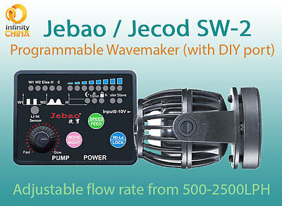 Jebao SW-2 Nano Programmable Wavemaker, Latest 2017 Version. Up to 2,500LPH(New)