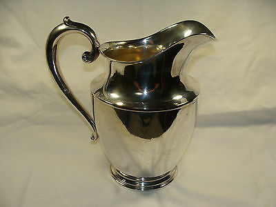 Vintage Wallace 201 Water Pitcher 4 1/2 Pint Sterling Silver No Monogram