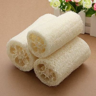 3Pcs/Set Natural Loofah Luffa Loofa Exfoliating Bath Shower Sponge Body Scrubber