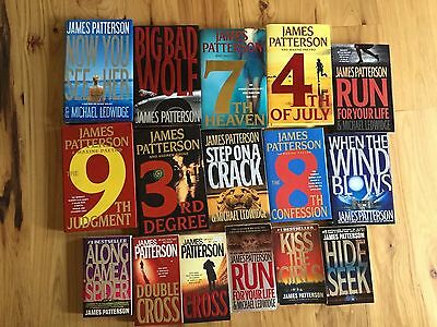 Lot Of 16 James Patterson Books ~ Hardback ~ Paperback ~ Double Cross ~