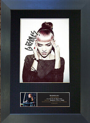 GRIMES Mounted Signed Photo Reproduction Autograph Print A4 642