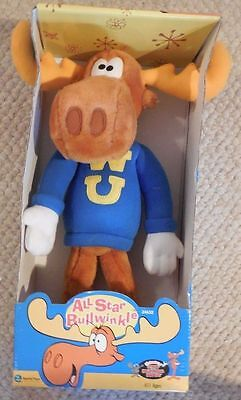 All Star Bullwinkle Moose Plush Doll Toy Collectible Equity Toy 1998 FREE SHIP!