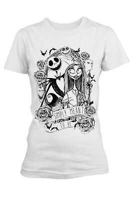 Disney Womens Official Nightmare Before Christmas Ladies Simply Meant To T-Shirt