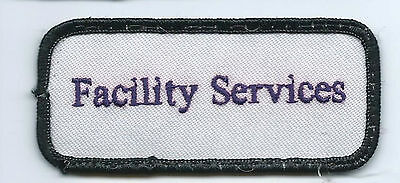 Facility Services advertising patch 1-5/8 X 3-5/8 #1294