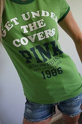 Victoria's Secret PINK T Shirt Graphic Tee Short Sleeve Under the Covers M