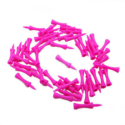 50 Pack of 59mm Plastic Castle Golf Tees (Pink) HIGH QUALITY / Made In the UK