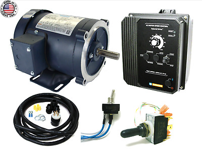 KB Electronics KBAC-27D AC drive 9520 w/ Leeson 116747 2hp ac motor MADE IN USA