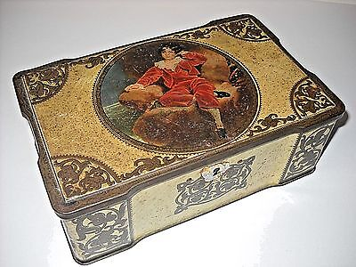 Vintage Wilkin Ltd. Assorted Toffees Fancy Candy Tin With Lock
