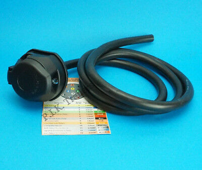 13 Pin Pre-wired Towing Socket Assembly for Caravan & Trailer #8085