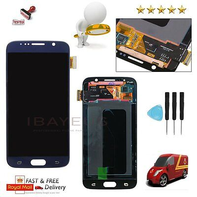 For Samsung Galaxy S6 G920F Blue LCD Display Digitizer Touch Screen Replacement