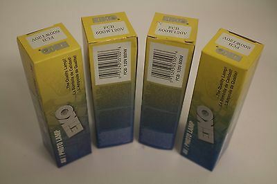 Lot of 4 FCB Projection lamps: 4 @ 120V, 600W FCB lamps for projector