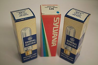Lot of 3 DFY Projection lamps: 3 @ 120V, 1000W DFY lamps for projector