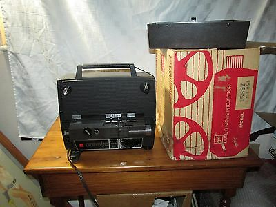 Regular & Super 8mm GAF 1588Z DUAL MOVIE PROJECTOR Working and clean! Box