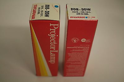 Lot of 2 DDB/DDW Projection lamps: 2 @ 120V, 750W DDB/DDW lamps for projector