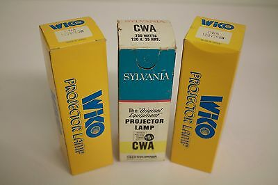 Lot of 3 CWA Projection lamps: 3 @ 120V, 750W CWA lamps for projector
