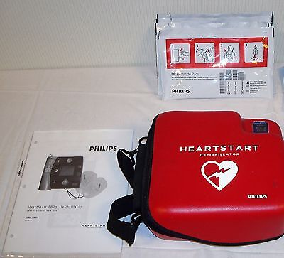 Philips HeartStart FR2+ AED Defibrillator with Battery, Pads, and Manual