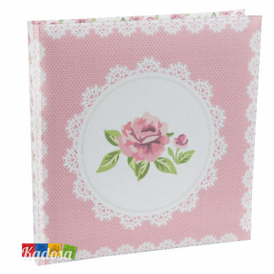 Guest Book Flower Rose Rosa 22 pagine bianche Wedding Libro Firme Ospiti Cresima