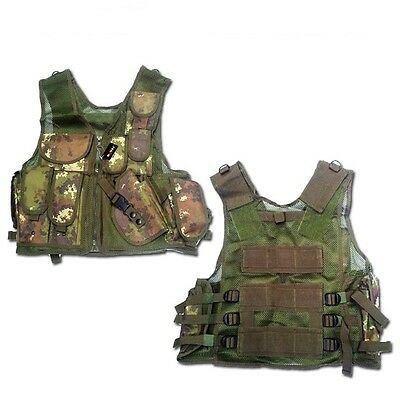 Gilet Tattico Tactical Vest Vegetato Italiano Royal 06557Tc Softair E Militari