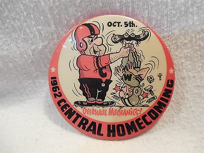 "Flintstones 1962 Central Homecoming 3"" Metal Pin-Back Button Fred Flintstone"