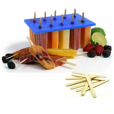 Ice Cream Pop Maker Frozen Mold 100 Sticks Freezer Tray Popsicle Lolly Producer