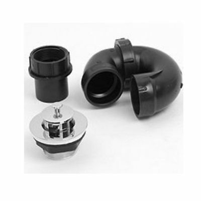 """Mobile Home/RV ABS 1-1/2"""" P-Trap with 1/2"""" Tub Drain"""