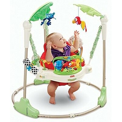 New Fisher-Price Rainforest 360 Jumperoo Baby Jumping Bouncer Exerciser Toy