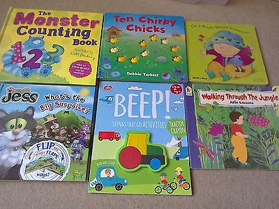 Baby book bundle Jess The Cat + Dingle Dangle scarecrow + walking through Jungle