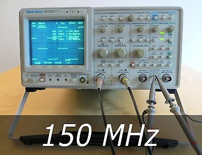 Tektronix 2430A 2-Channel 150 MHz Oscilloscope +2 New 100 MHz Probes. Very clean