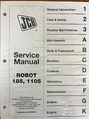 JCB Robot 185 & 1105 Skid Steer Service Repair Manual Shop