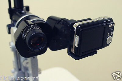 New Slit Lamp Eyepiece Digital Adapter for Compact Camera w/ Sleeves and Camera!