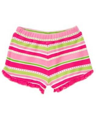 NEW GYMBOREE girls summer ice cream stripe dot ruffle short size 3-6 months