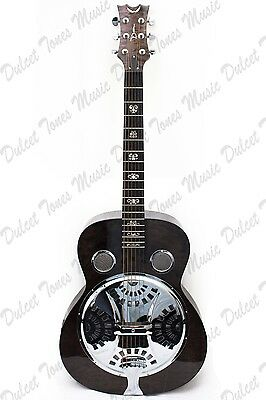 Dean Quilt Maple Spider Resonator Guitar with Trans Black Finish *FREE POSTAGE*