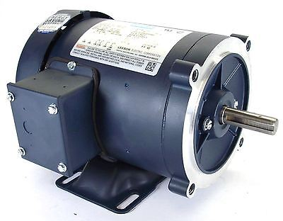 Leeson 116745 AC motor 1hp TEFC 1800 RPM 56c frame w/ base 230/460v MADE IN USA