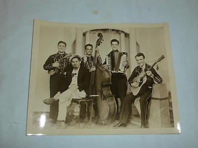 Willis Meyers & His Bar X Boys Promotional Photo 11940s Fine Condition Rare