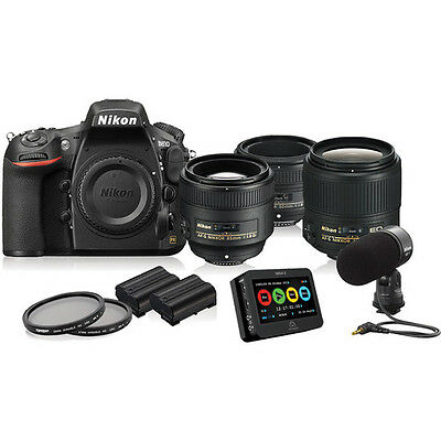 Nikon D810 DSLR Filmmaker's Kit NEW! *13456* With FREE Lens & Accessories Bundle